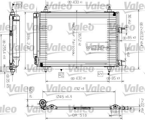 VALEO 817524 Klima Radyatörü