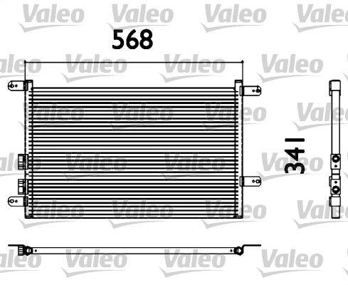VALEO 817527 Klima Radyatörü