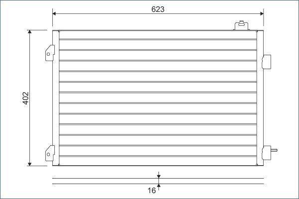 VALEO 817646 Klima Radyatörü