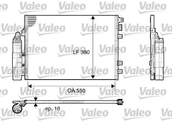 VALEO 817661 Klima Radyatörü