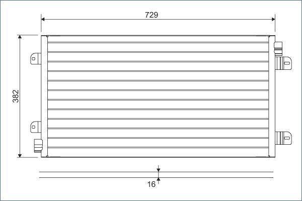 VALEO 817689 Klima Radyatörü