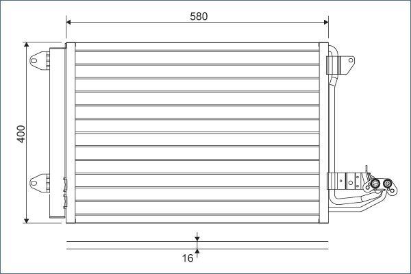 VALEO 817777 Klima Radyatörü