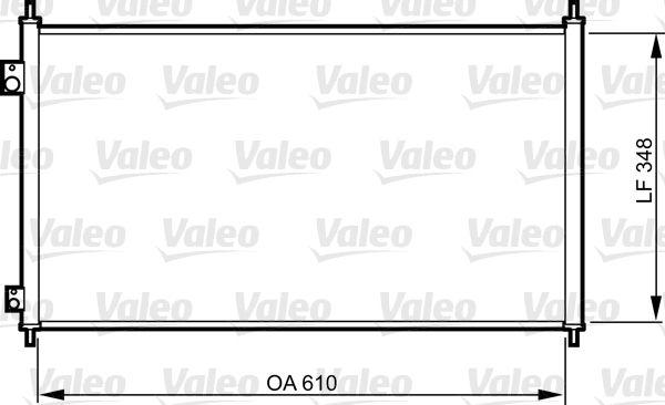 VALEO 817780 Klima Radyatörü