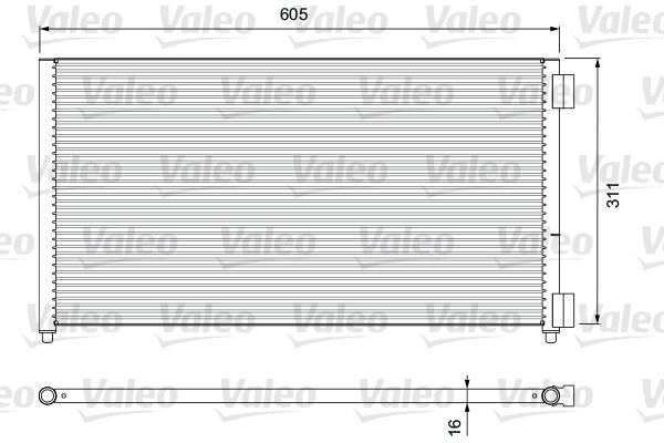 VALEO 817799 Klima Radyatörü