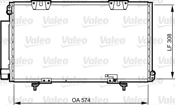 VALEO 817803 Klima Radyatörü