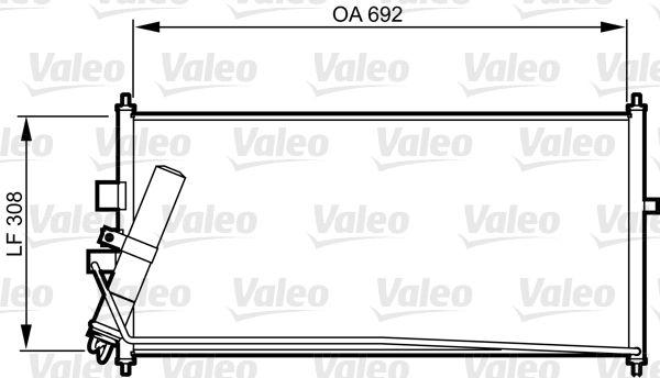 VALEO 817822 Klima Radyatörü