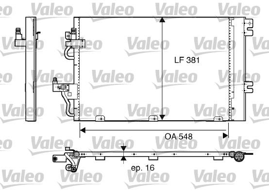 VALEO 817839 Klima Radyatörü