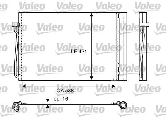 VALEO 817850 Klima Radyatörü