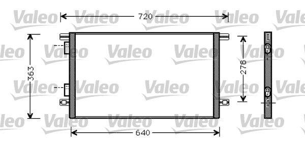 VALEO 818008 Klima Radyatörü