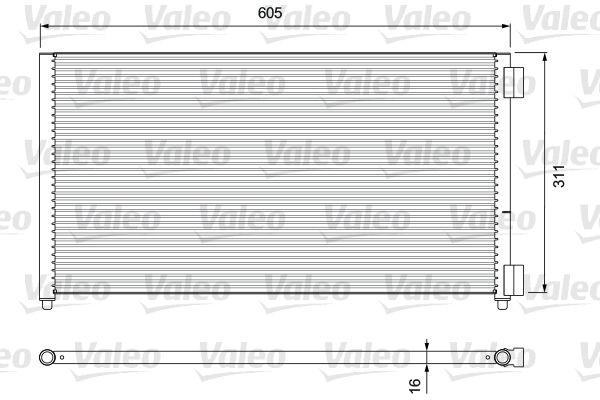 VALEO 818017 Klima Radyatörü