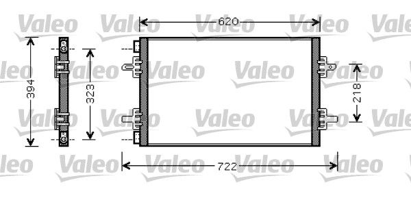 VALEO 818027 Klima Radyatörü