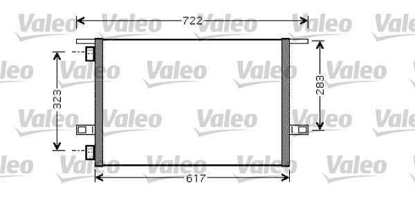 VALEO 818028 Klima Radyatörü