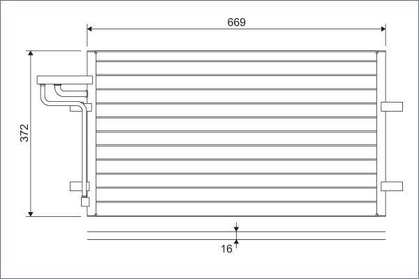 VALEO 818046 Klima Radyatörü