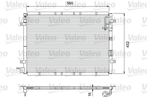 VALEO 818080 Klima Radyatörü