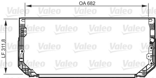 VALEO 818107 Klima Radyatörü