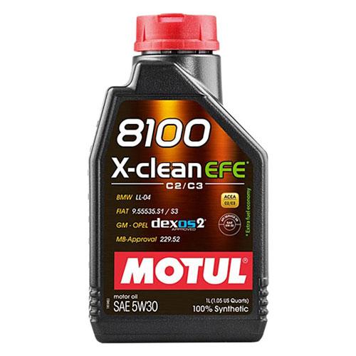 MOTUL 109470 Motor Yağı Tam Sentetik 8100 X-Clean Efe (1 Lt) 5W30